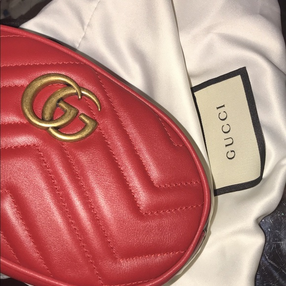 241bf51ffb6c Gucci Bags | This Is My All Red Leather Belt Fanny Pack | Poshmark